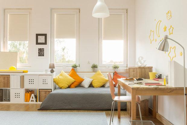 Žlutá a oranžová by v dětském pokojíčku neměly chybět... Foto: