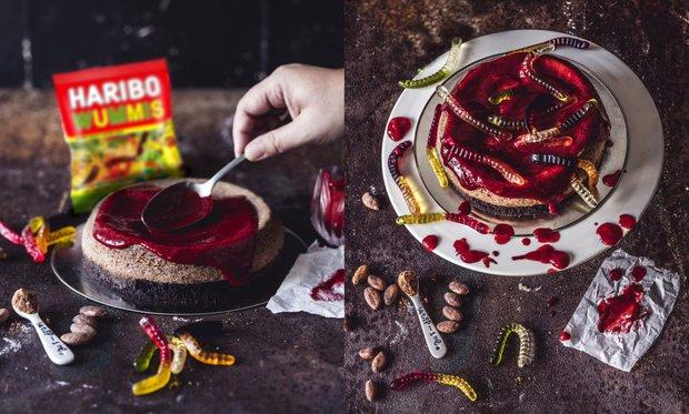 """""""Krvavý"""" cheesecake  Foto:"""