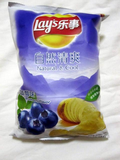borůvkové chipsy Foto: