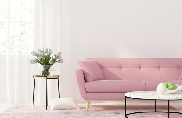 Růžovo-brosková sedačka možná bude pro vaše partnera už velké sousto, ale stojí za to o ni bojovat! Foto:
