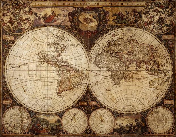 Neaktuální mapy možná neposlouží o zeměpise, ale jako dekorace jsou skvělé Foto: