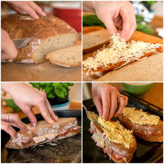 Zapečený chlebový sendvič s vejcem  Foto: