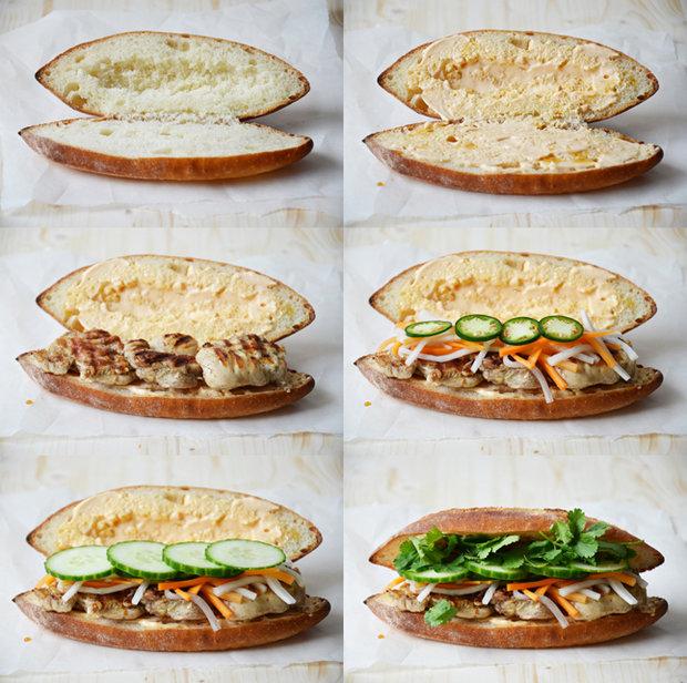 Bánh mi s grilovaným kuřecím masem Foto: