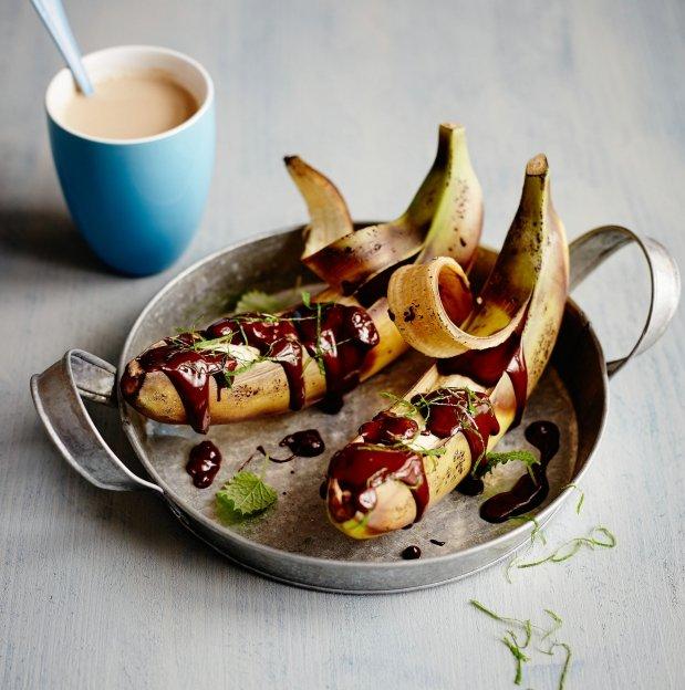 Banánové lodičky plné čokolády Foto: