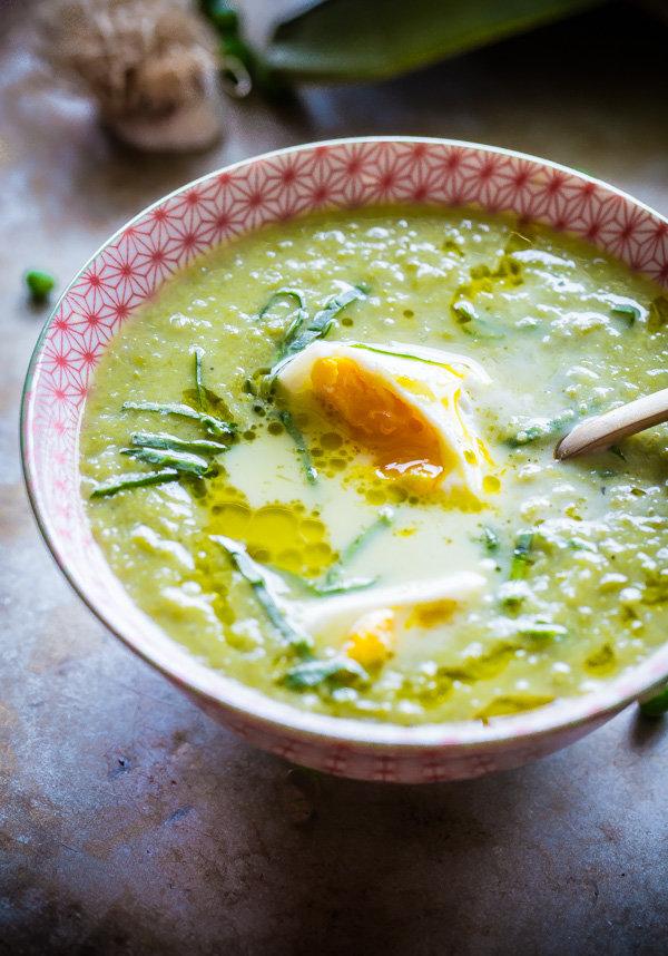 Hrášková polévka s pórkem 2 Foto: