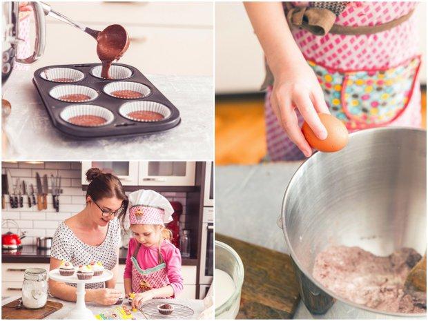 Květinové čokoládové cupcakes  Foto:
