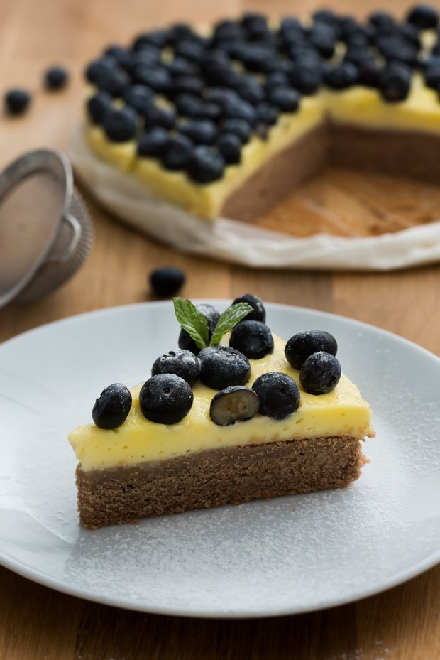 Borůvkový koláč s vanilkovým pudinkem 1 Foto: