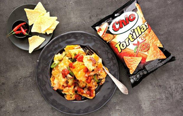Mexické červené fazole s nachos Foto: