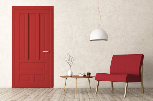 Červená rozzáří, ale už to interiéru stačí... Foto:
