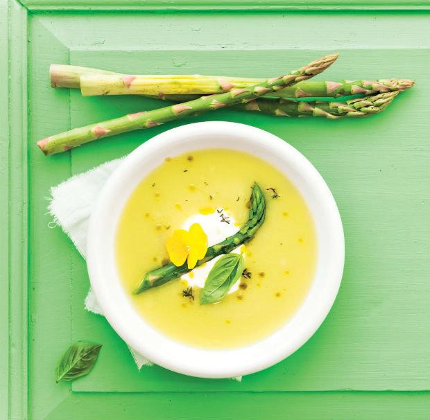 Krémová chřestová polévka Foto: Gurmet