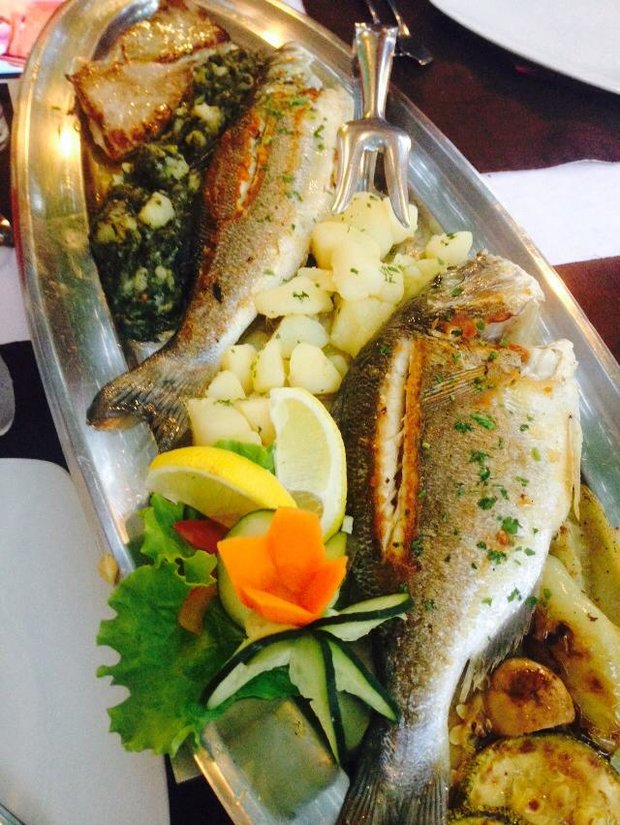 Výběr pečených ryb v restauraci Bastion Foto: Klára Michalová