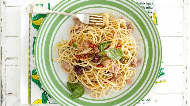 Špagety s citronem a tuňákem Foto: