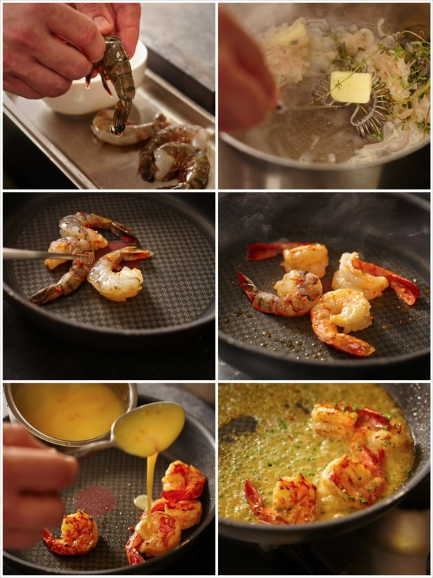 Tygří krevety s česnekovo-zázvorovým beurre blanc 3 Foto: