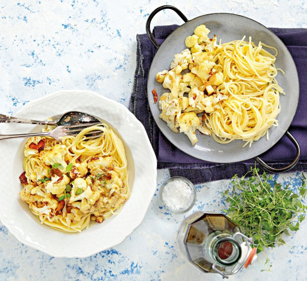 Špagety s květákem a sýrem  Foto: