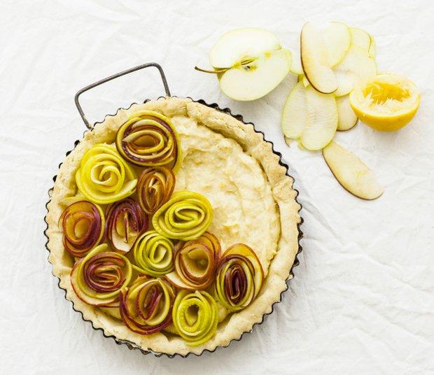 Koláč s jablečnými růžemi Foto: