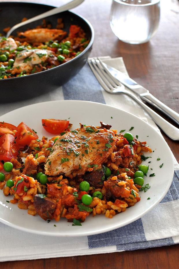 Rychlá kuřecí paella s chorizem 2 Foto: