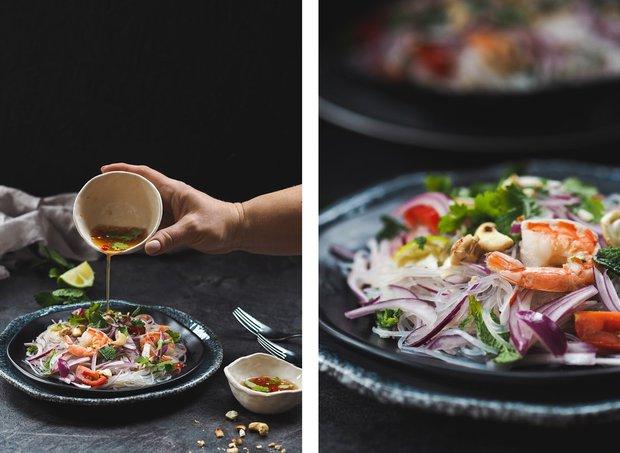 Thajský salát s krevetami a skleněnými nudlemi 2 Foto: