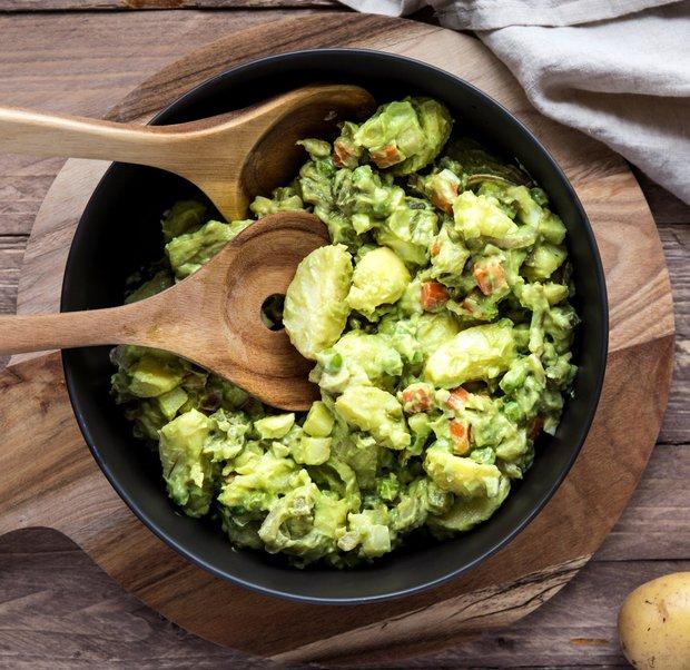 Bramborový salát s avokádovou majonézou  Foto: