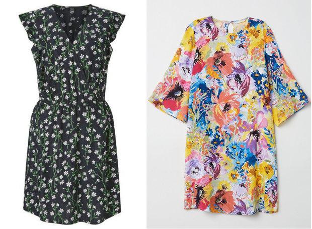 Šaty F&F, cena: 399 Kč, H&M, cena 599 Kč Foto: