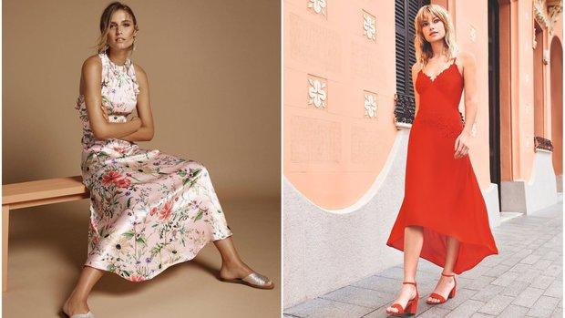 Květované šaty Marks & Spencer, červené šaty F&F Foto: