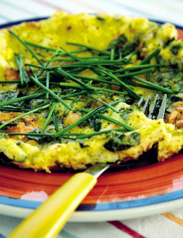 Omeleta s uzeným lososem Foto: