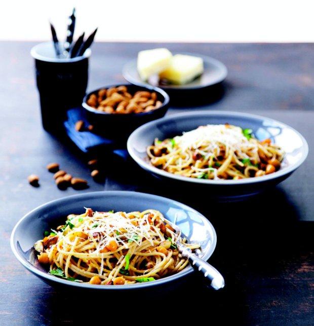 Celozrnné špagety s cizrnou Foto: