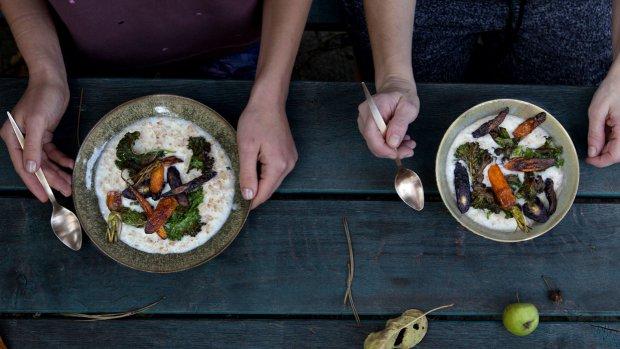 Brynzová kaše s pečenou mrkví  Foto: