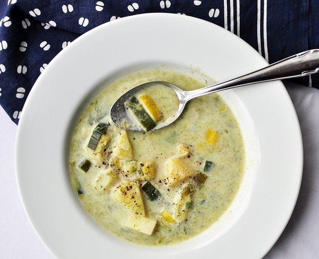 Smetanová pórková polévka s bramborami  Foto: