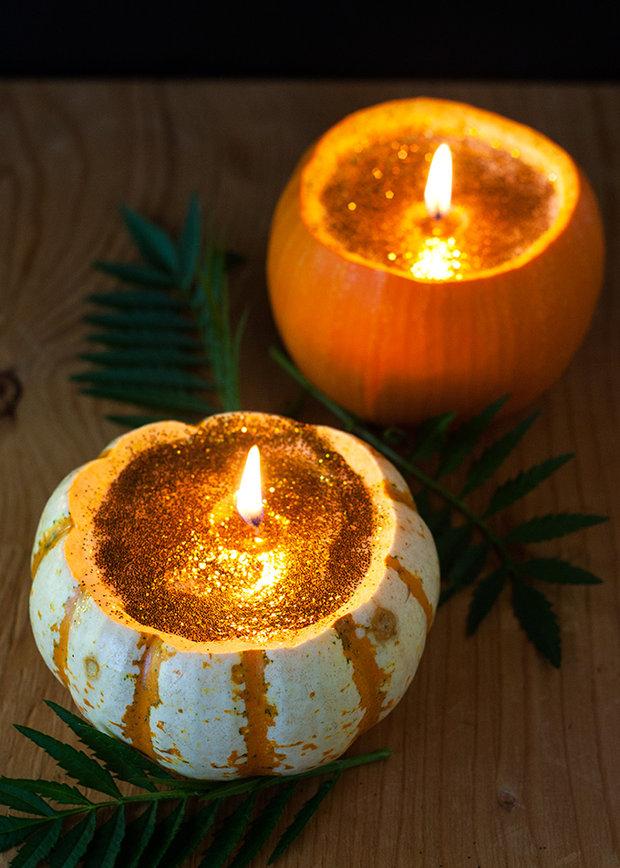 Svíčky z dýní. Foto: