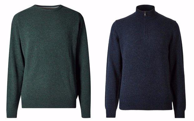 Pánský svetr z ovčí vlny, Marks&Spencer, cena 1190 Kč, 1399 Kč Foto: