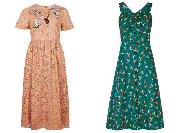 Šaty Marks&Spencer, cena: 2699 Kč, Esprit, cena: 1999 Kč Foto: