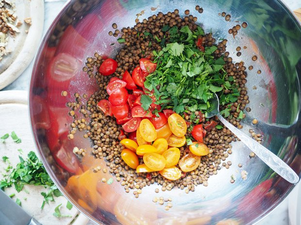 Čočkový salát s gorgonzolou 3 Foto: