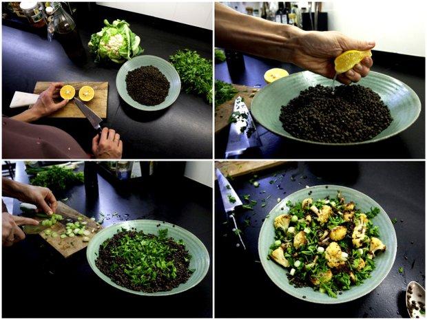Čočkový salát s pečeným květákem 2 Foto: