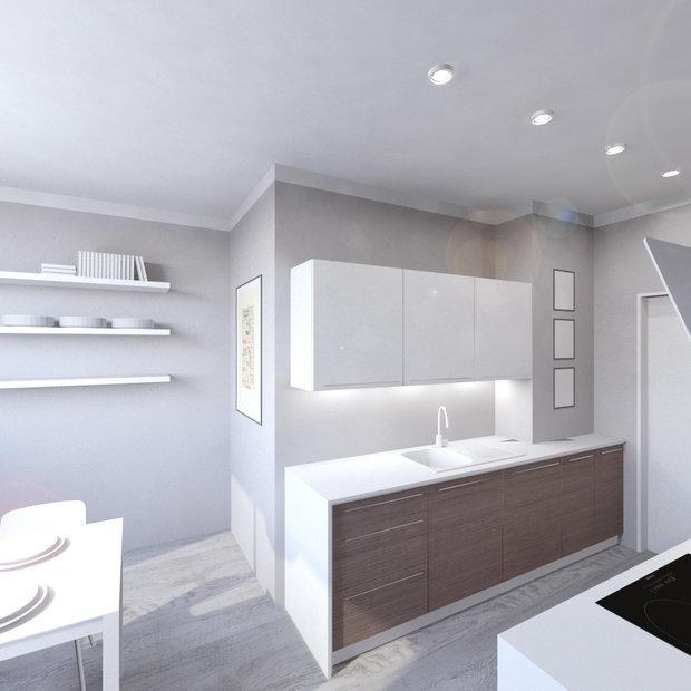 Při rekonstrukci bytu a výměně umakartového jádra lze podle potřeb změnit poměr velikosti kuchyně a koupelny Foto: