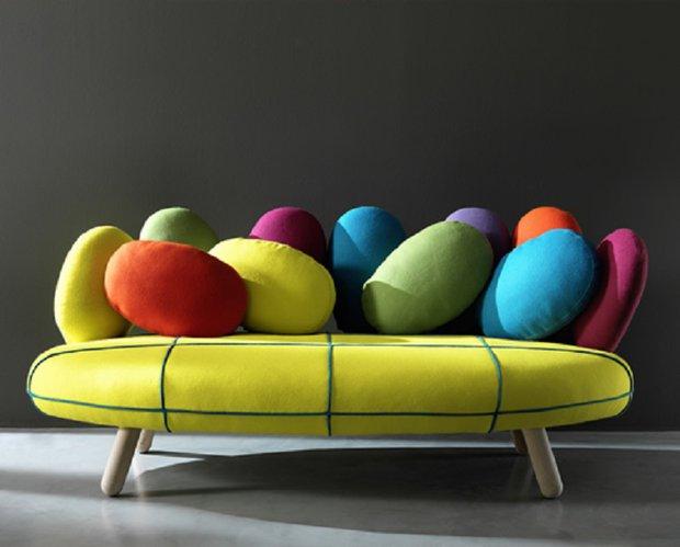 Designově tvarovaná sedačka Jelly  Foto: