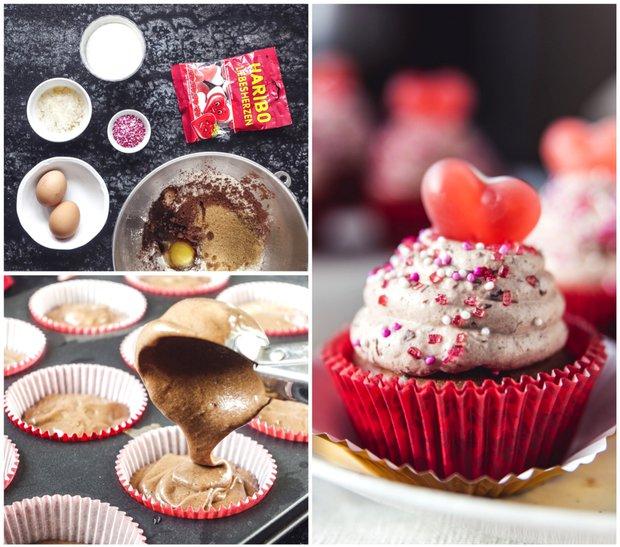Čokoládové cupcakes s kakaovým krémem  Foto: