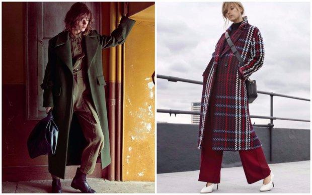 Klasické dlouhé kabáty seženete např. v obchodech Mango a Marks & Spencer Foto: