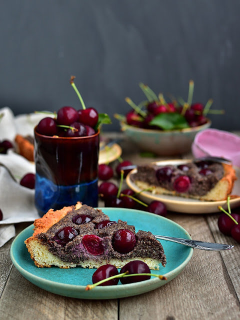 Makový koláč s třešněmi 2 Foto: