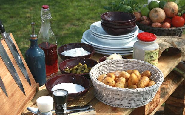 Kančí krkovička s Chimichurri a bramborovým salátem  Foto: Marek Dienstl