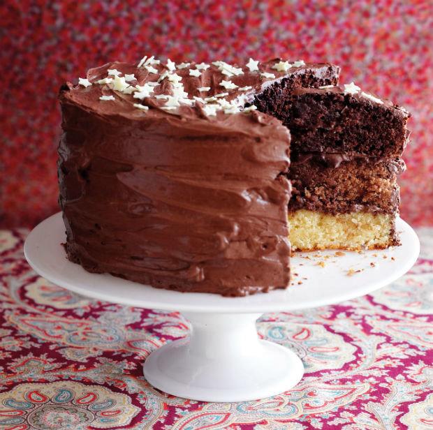 Tříbarevný čokoládový dort  Foto: isifa.com