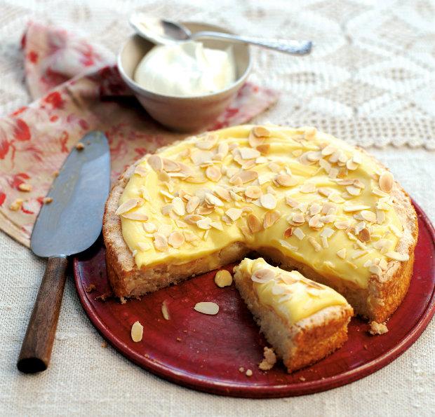 Švédský vanilkový koláč s mandlemi Foto: