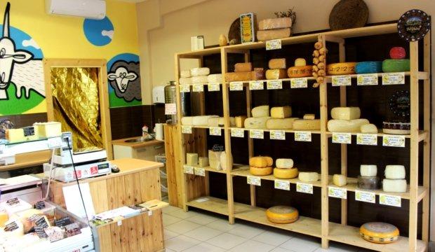 Bochníky sýrů v Cheesy marketu lákají k ochutnání Foto: