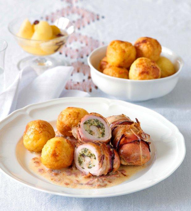 Telecí španělské ptáčky s bramborovými knedlíčky Foto: