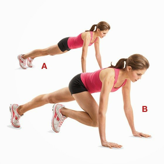 Pushup+and+Knee+Kick+Exercise+++kl+i Foto: