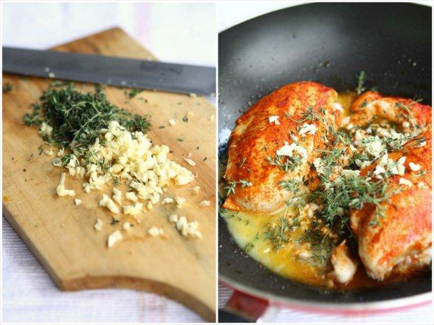 Paprikové kuře se špenátem s omáčkou z vína a másla 2 Foto: