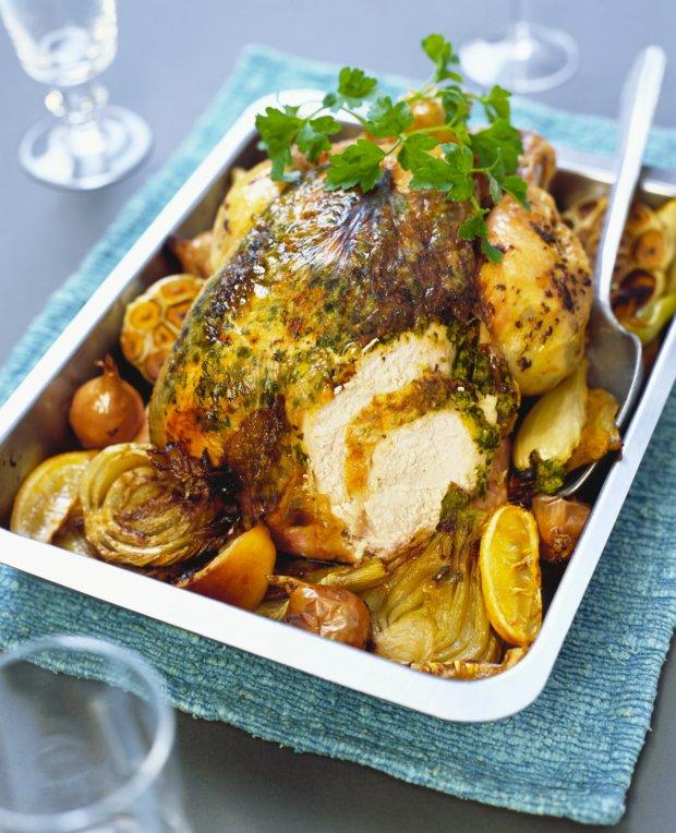 Pečené kuře s fenyklem a zázvorem Foto: