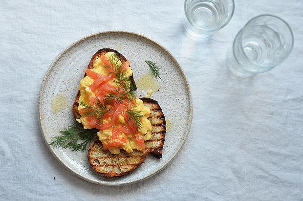 Míchaná vajíčka s lososem 2 Foto: