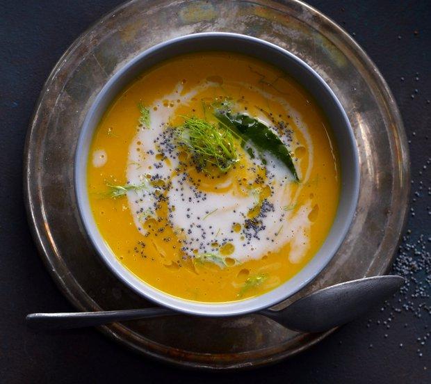 Dýňová polévka s fenyklem a zázvorem  Foto: