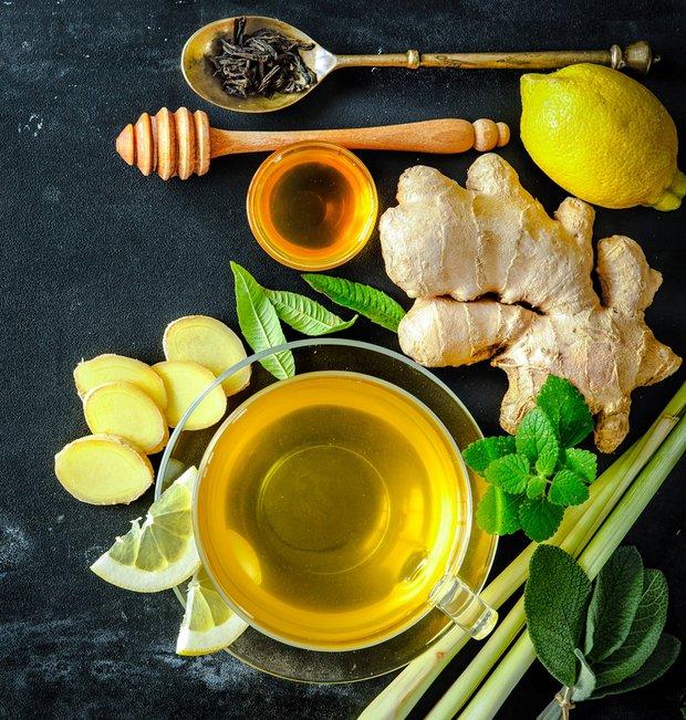 čaj, med, zázvor Foto: