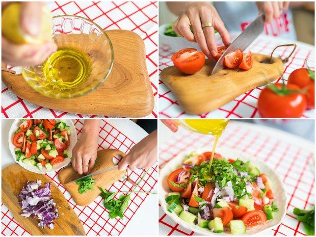 Osvěžující rajčatový salát s mátou  Foto: